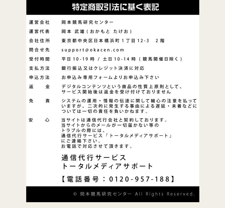 岡本競馬研究センターのTOPイメージ