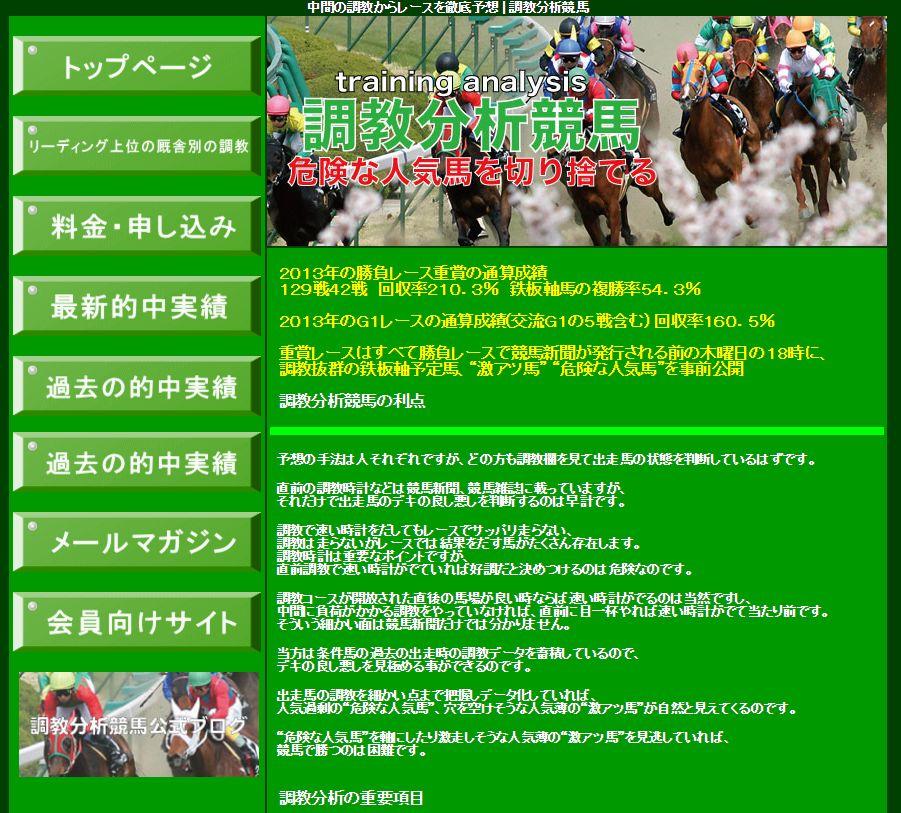 調教分析競馬のTOPイメージ