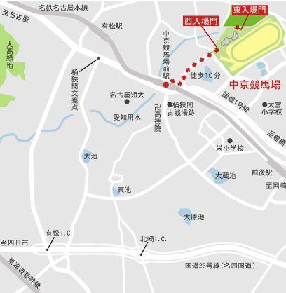 中京競馬場のアクセス方法